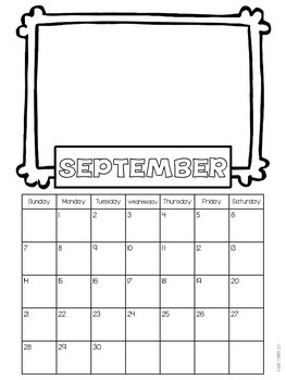 Design Your Own Calendar {2014 - 2015}