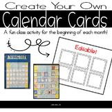 Design Your Own Calendar Cards