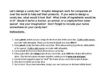 Design Your Own Candy Bar Sub Plan