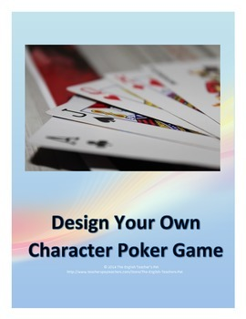 Design Your Own Character Poker Game