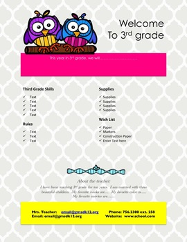 Design Your Own Classroom Signs and Flyers *editable*
