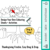 Design Your Own Colouring Sheets + Activities - Thanksgiving Pack