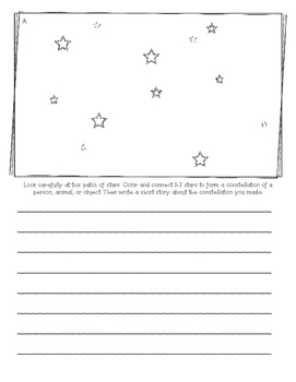 Design Your Own Constellation- writing prompt