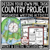 Design Your Own Country Creative Writing HOT Extension • T