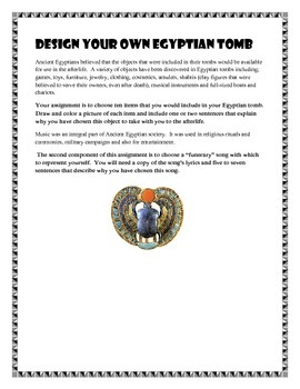 Design Your Own Egyptian Tomb