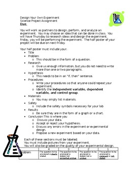 Design Your Own Experiment- Scientific Method Project