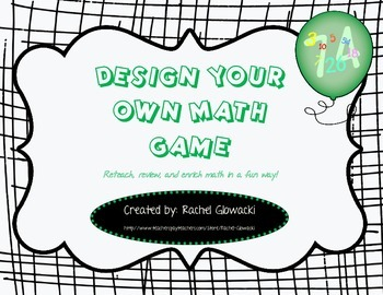 Design Your Own Math Game