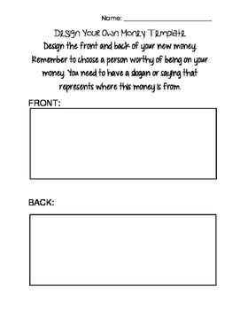 design your own money template by hilliary owens tpt