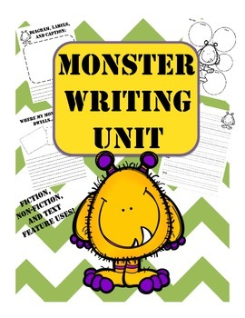 Design Your Own Monster Themed Writing Unit Fiction and No