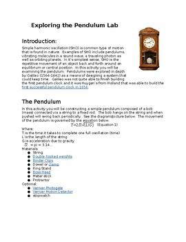 Design Your Own Pendulum Lab