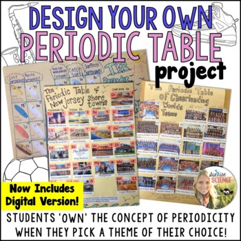 Periodic Table Project : Design Your Own using a Theme of Your Choice