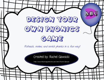 Design Your Own Phonics Game