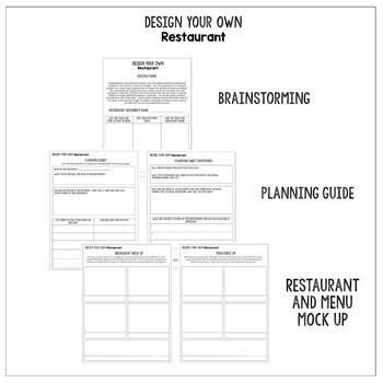 Design Your Own Restaurant Creative Writing Activity