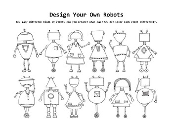 Design Your Own Robots Drawing Challenge
