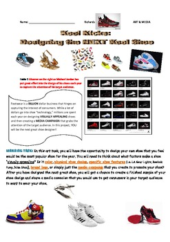 Design Your Own Shoe Assignment - Art & Media Literacy