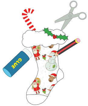 Design Your Own Stocking - Christmas Decorate, Cut and Paste