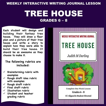 Interactive Weekly Writing Notebook Lesson - Design Your Own Tree House-CC