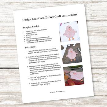 Design Your Own Turkey Craft (Thanksgiving)