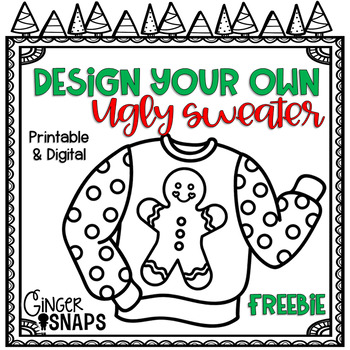 Design Your Own Ugly Sweater Printable And Digital By Ginger Snaps