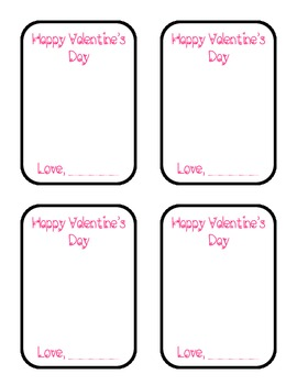 Design Your Own Valentine's Day Cards (Students)