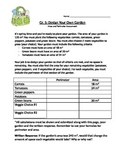 Design Your Own Vegetable Garden: Perimeter and Area Assessment