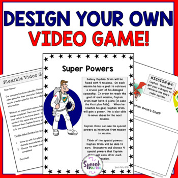 Teamwork Activity: Design Your Own Video Game!