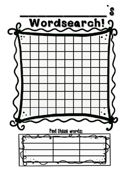 Design Your Own Word Searches!