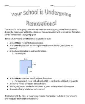 Design Your Ultimate School Perimeter and Area Project