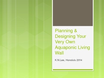 Design Your Very Own Aquaponic Living Wall PowerPoint Project Outline