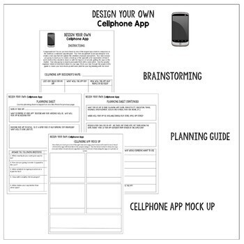 Design Your own Cellphone App Writing Activity