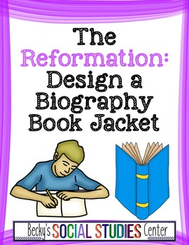 Design a Biography Book Jacket for a Leader of the Reformation