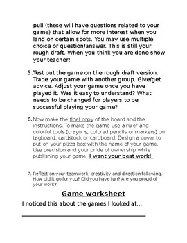Design a Board Game 101