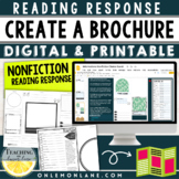 Design a Brochure / Informational Text Response / Works w/ any Non-Fiction Read