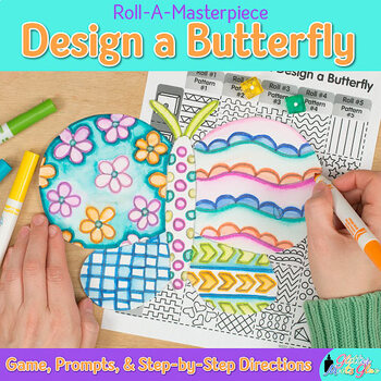 First Day of Spring | Design a Butterfly Game | Art Project and Art Sub Plans