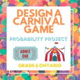 Design a Carnival Game - Probability Project Grade 6 Math