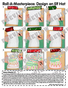 Design an Elf Hat Game {Christmas Activities and Art Sub Plans for December}