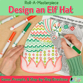 Christmas Activity: Design an Elf Hat Art Sub Plan, Template, & Writing Prompts