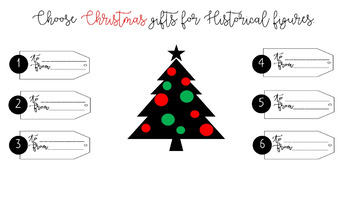 Christmas Activity Bundle (for any Historical Figure, Author, Character)