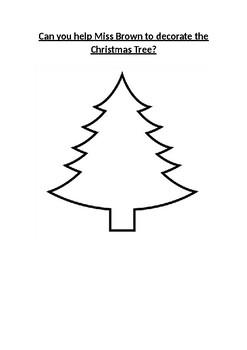 Design a Christmas Tree! Maths Age 7-9!