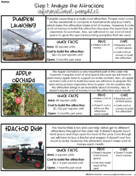 Design a Cider Mill Math Project Fall Math Activities Project Based Learning PBL