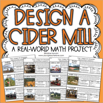 Design a Cider Mill Math Project - Project Based Learning PBL - Multiplication