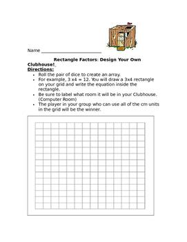 Design a Clubhouse: Rectangle Factors
