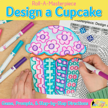 Design a Birthday Cupcake Game {Art Sub Plans and Bulletin Board Ideas}