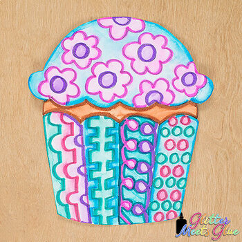Design a Birthday Cupcake Game {Art Sub Plans and Bulletin Board Ideas}