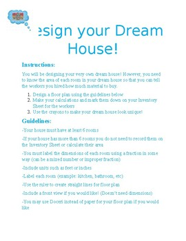 Design a Dream House Learning Station
