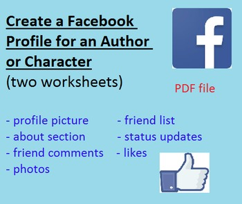 Design a Facebook Profile Page for an Author or Character