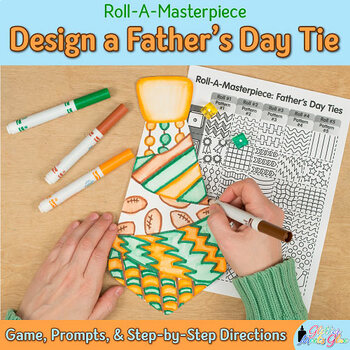 Design a Father's Day Tie Game {Art Sub Plans and Bulletin
