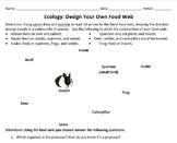 Design a Food Web Worksheet