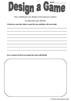 Design a Game (STEM Project)