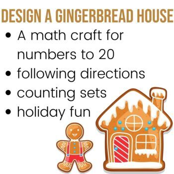 Design a Gingerbread House - A Counting Activity for Numbers to 20